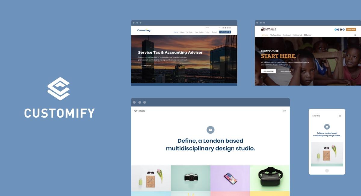 Introducing Customify - The Most Customizable WordPress Theme