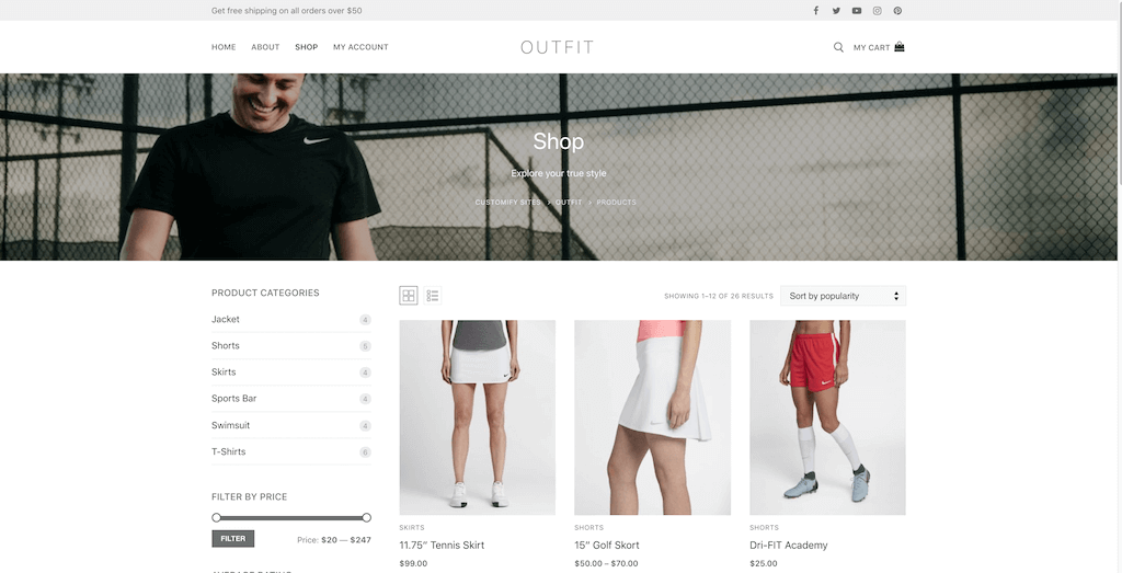 New in Customify: WooCommerce Features + Shop Demo